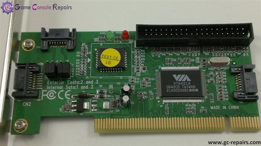 XBox360 VIA 6421 PCI Sata Card - Team Xecuter(TX) Approved