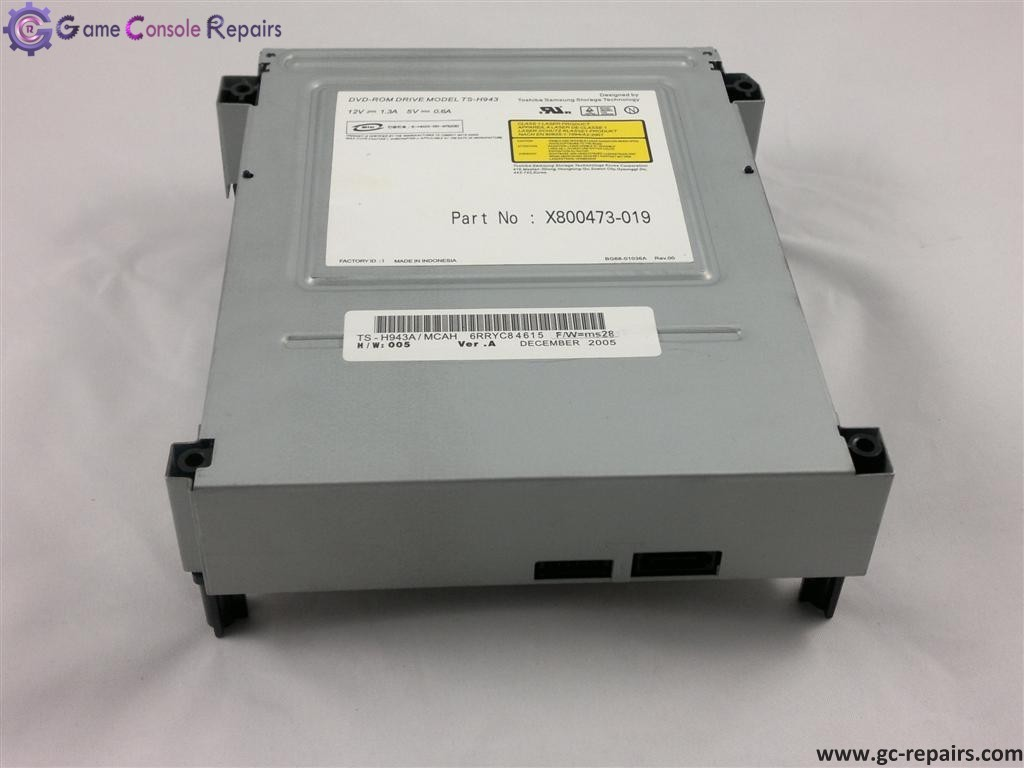 XBOX360 (PHAT) Replacement Drive Toshiba/Samsung TS-H943A