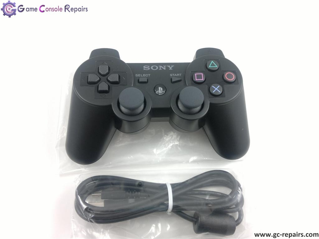 sony ps3 dualshock 3 wireless controller black brand new. Black Bedroom Furniture Sets. Home Design Ideas