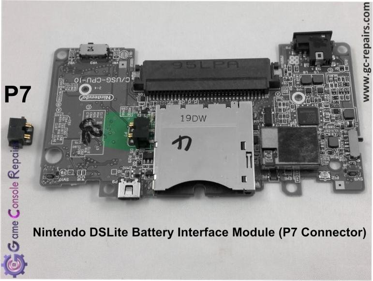 Nintendo DSLite battery Interface Module Replacement