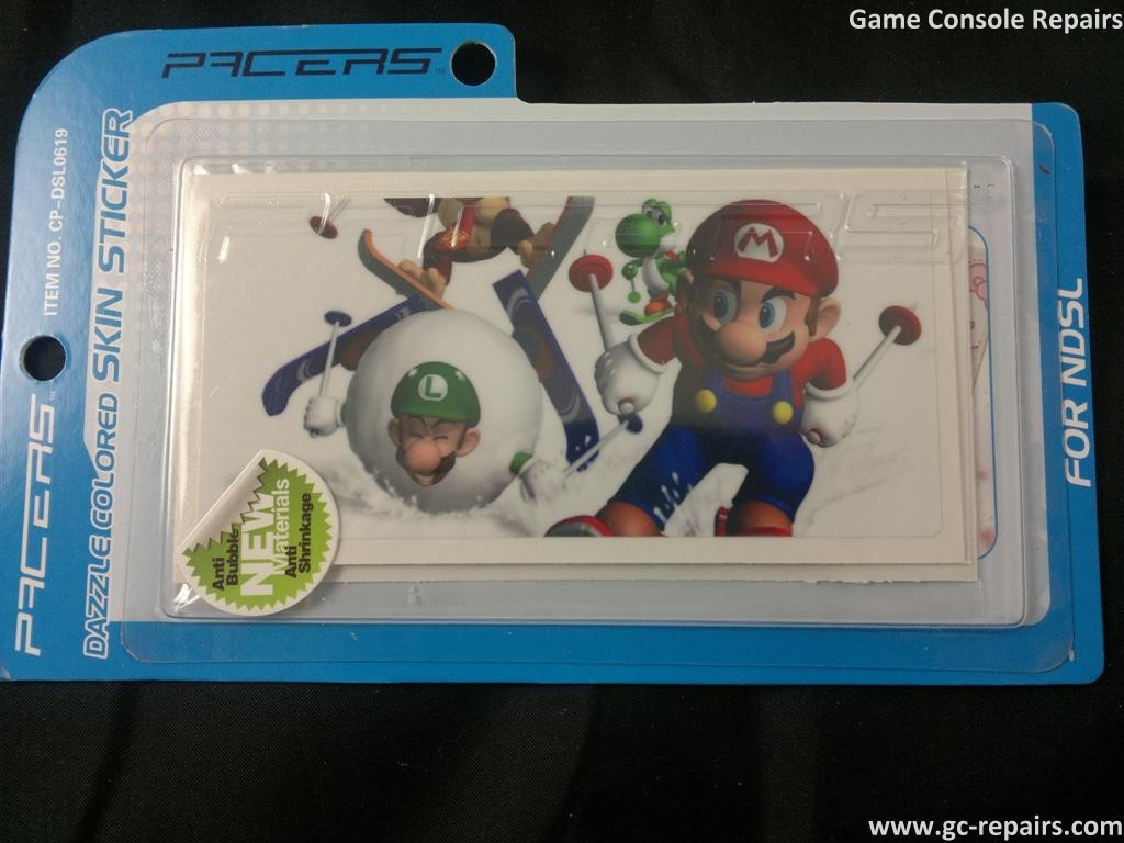 Mario Skin Stickers for NDSL