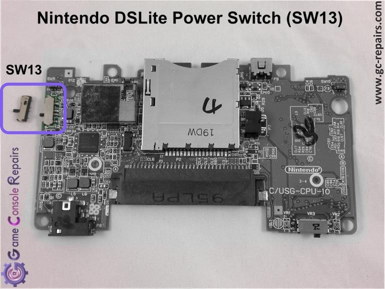Nintendo DSLite Power Switch Replacement