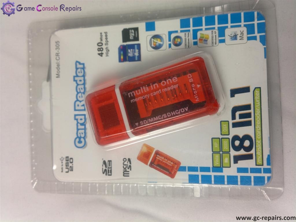18 in 1 card reader usb mini - Red