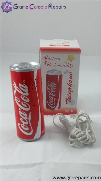 Coca Cola Can Telephone - Red