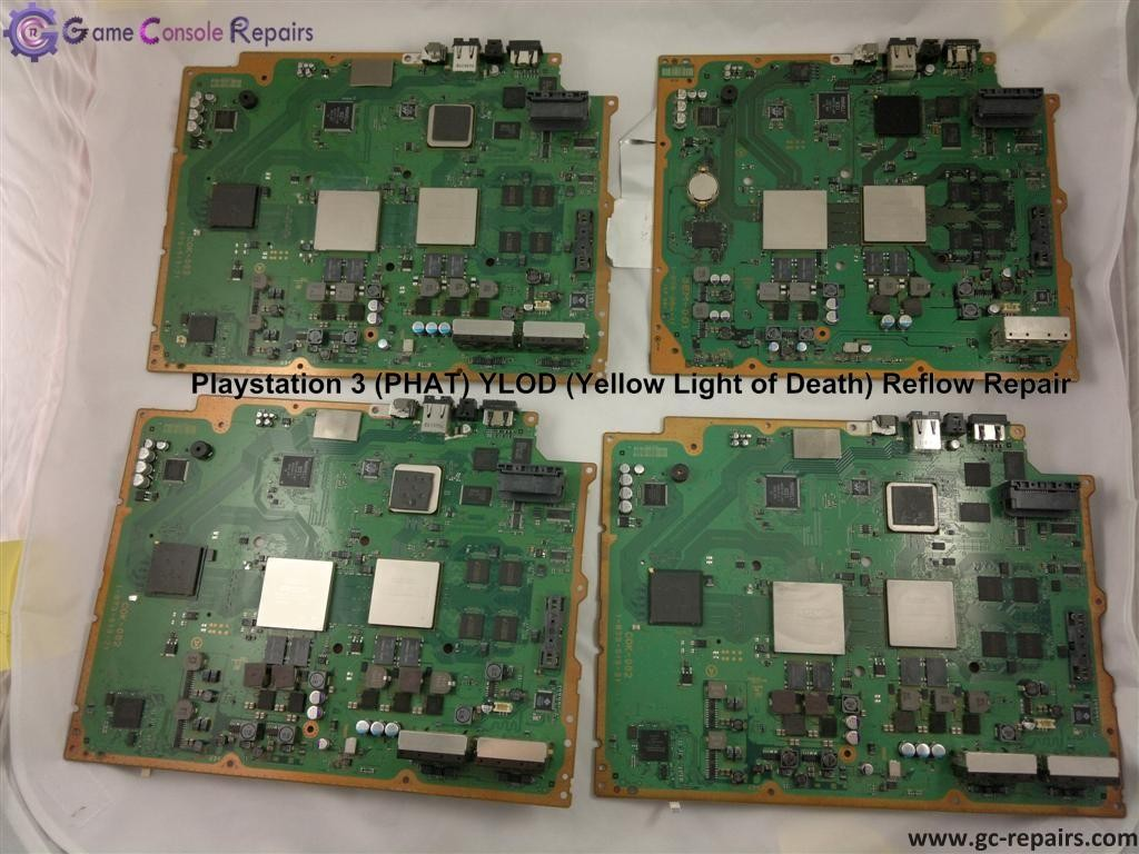 Playstation 3 (PHAT) YLOD (Yellow Light Of Death) or Rlod (Red Light of Death) - Motherboard Issues