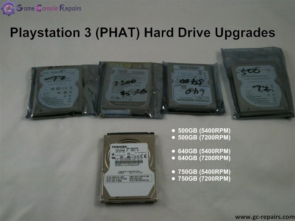 Playstation 3 (PHAT) Hard-Drive Upgrade/Repair/Restore