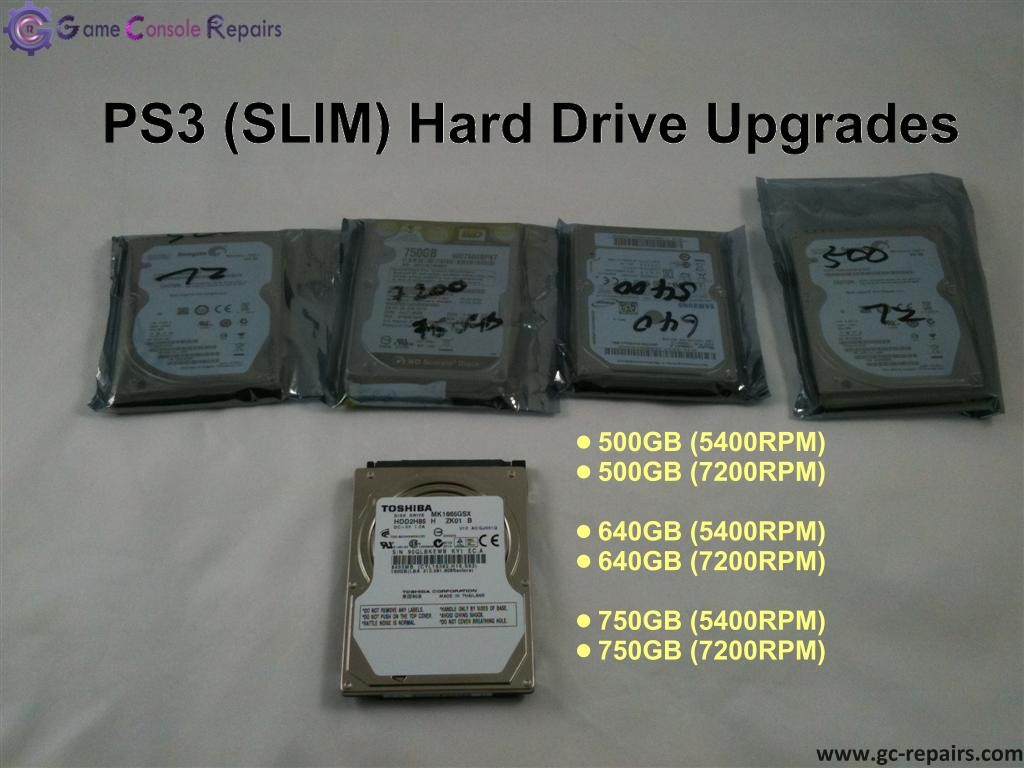 PS3 (SLIM) Hard Drive Upgrade/Repair/Restore