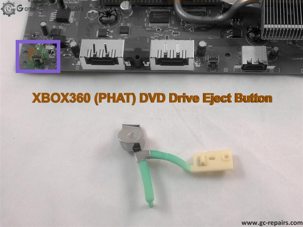 XBOX360 (PHAT MODEL) - Eject Button Repair Service - Game