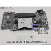 Nintendo DSLite P6 (Touch Panel) P3 (TOP LCD) Connector Replacement