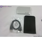 2.5 Mini 2.0 HDD Enclosure with leather pouch (Silver)