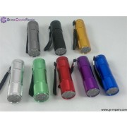 9 White LED Flashlight