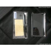 Protective Crystal Backside Case with Screen Guards + Cleaning Cloth + Stylus for iPod Touch 4