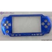 Replacement front face plate (Electric Blue) for PSP 1000