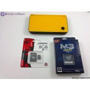 Nintendo DSi XL Console with M3i-Zero Card & 8GB MicroSDHC + All Basic Accessories