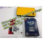 Nintendo DSi XL Console with M3i-Zero Card & 4GB MicroSDHC + All Basic Accessories